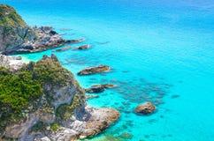 UddeCapoVaticano flyg- panoramautsikt, Calabria, sydlig Ita royaltyfri foto