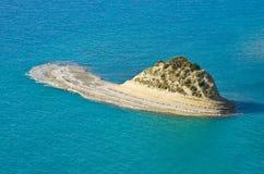 UddeDrastis klippor på den Korfu ön, Grekland Arkivfoton