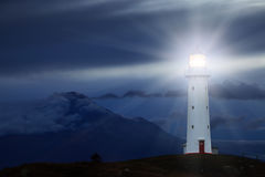 UddeEgmont fyr, Nya Zeeland Fotografering för Bildbyråer