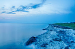 UddeHatteras nationell kust på den Hatteras ön norr Carolin arkivbild