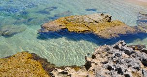 UddePerons vatten för frikänd och strandrev Arkivfoton
