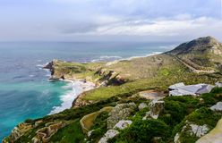 Uddepunkthalvö i Sydafrika Arkivfoton