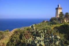 UddeSpartel fyr, Tangier, Marocko Royaltyfria Foton