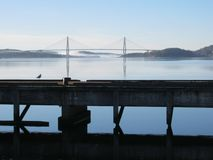 Uddevalla Bridge. In Sweden on a clear sunny day royalty free stock photography