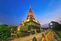 Uddhism ceremoni Magha Puja Day på Ayutthaya Thailand Arkivfoto