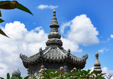 Uddhist cemetery ancient dynasties in Vietnam. roof of the tomb Stock Image