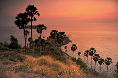 uddphromthepphuket landskap thailand Arkivbilder