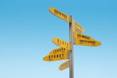 UddReinga Signpost som är nyazeeländsk Arkivbild