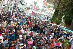 Town för folkmassaplatsudd arkivbilder