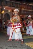 Udekki Players perform at the Esala Perahera in Kandy, Sri Lanka. Stock Photos