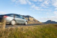 Uderzać drogę w południowym Iceland Europe backround zdjęcie royalty free