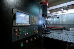 Uderzać pięścią maszynę Przedpole pulpit operatora zdjęcia stock