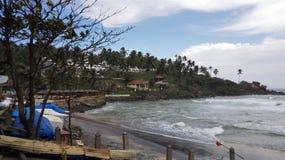 UDERZA plażę Fotografia Stock