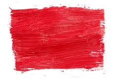 Uderzenia czerwona farba Obrazy Royalty Free