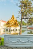 Uderzenia Pa W pałac Ayutthaya Zdjęcie Royalty Free