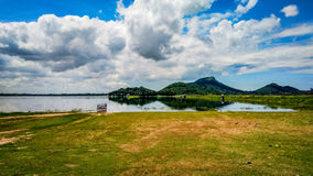 Uderzenia pra jezioro Fotografia Stock