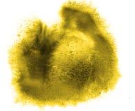 Uderzenie farby splatters koloru akwareli abstrakt Obrazy Stock
