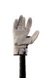 Uderzenie kijem rękawiczka na nietoperzu obraz royalty free