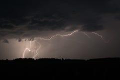 Uderzenie pioruna w Szwecja Fotografia Royalty Free