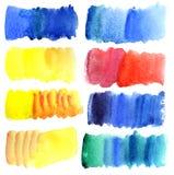 uderzenie szczotkarska kolorowa akwarela royalty ilustracja