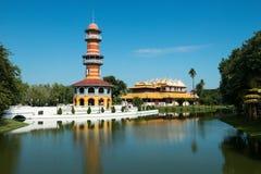 Uderzenie w Aisawan, lato pałac, Tajlandia podróż Fotografia Stock