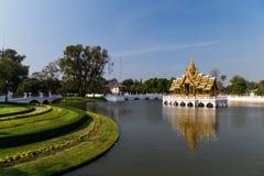 Uderzenie w lato pałac w Ayutthaya Fotografia Royalty Free