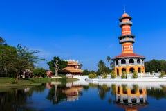 Uderzenie w pałac w Phra Nakhon Si Ayutthaya, Tajlandia Zdjęcie Royalty Free