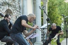 Udin & Jazz festival. A concert in Udin & Jazz festival 2015 in Udine Italy Stock Photos