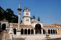 Udine,意大利:凉廊二圣乔瓦尼 库存照片