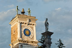 Udine, the clock tower Stock Photo