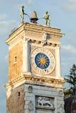 Udine, der Glockenturm lizenzfreie stockfotografie