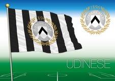 UDINE, ITALIA, AÑO 2017 - campeonato del fútbol de Serie A, bandera 2017 del equipo de Udinese