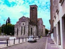 Udine Italia - foto hermosa de la ciudad Udine foto de archivo