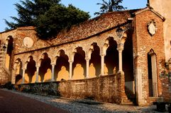 Udine, Italie : Arcade de la Renaissance de Lippomano Photo libre de droits