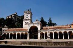 Udine Italien: Loggiadi San Giovanni Royaltyfria Foton