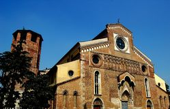 Udine Italien: 14th århundradeDuomo Arkivfoto