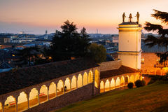 Udine, Loggia und Glockenturm Stockfotos