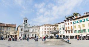 Udine, Marktplatz Matteotti Stockbilder