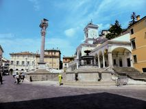 Udine Włochy - piękna fotografia miasto Udine zdjęcia royalty free