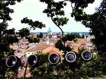 Udine Włochy - piękna fotografia miasto Udine obraz stock