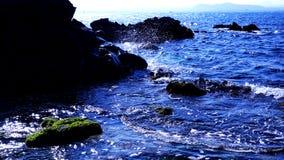 Udo,济州岛美好的海风景  库存图片