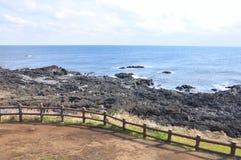 Linia brzegowa w Udo wyspie, Korea obrazy stock