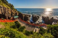 Udo jingu,位于日南市海岸线的神道圣地,九州 库存图片