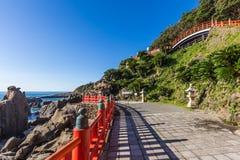 Udo jingu,位于日南市海岸线的神道圣地,九州 免版税图库摄影