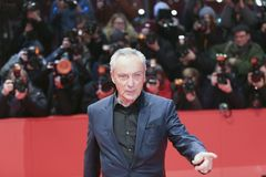 Udo Kier attends the `Don`t Worry, He Won`t Get Far on Foot`. Premiere during the 68th  Film Festival Berlin at Berlinale Palast on February 20, 2018 in Berlin Stock Photography