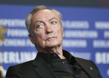 Udo Kier is seen at the `Don`t Worry, He Won`t Get Far on Foot`. Press conference during the 68th Film Festival Berlin at Hyatt Hotel on February 20, 2018 in Stock Photography