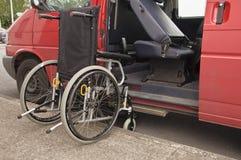 udogadnia wózek inwalidzki Zdjęcia Royalty Free