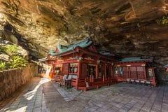 Udojingu, een Shinto-heiligdom op Nichinan-kustlijn, Kyushu wordt gevestigd die royalty-vrije stock afbeeldingen