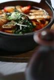 汤udon 免版税库存照片