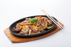 Udon with beef Royalty Free Stock Photos